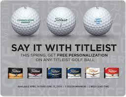 this say it with titleist free personalization on any