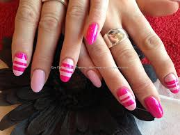 eye candy nails u0026 training acrylic nails with pink freehand nail