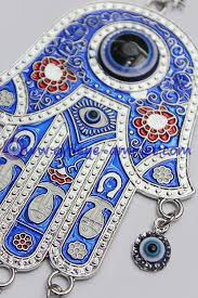blue hamsa evil eye charm amulet hanging car wall decoration for