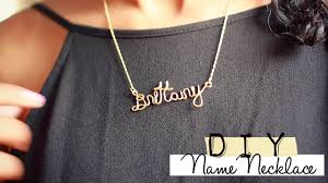 wire name necklace how to wire name necklace