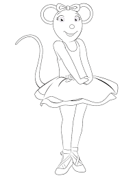 angelina ballerina coloring pages 19330