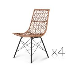 Outdoor Rattan Dining Chairs Oz Crazy Mall Set Of 4 Outdoor Rattan Dining Chair
