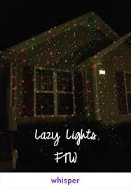 lazy christmas lights lights ftw