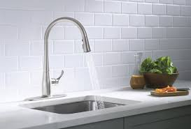 Install New Kitchen Faucet Alluring Venetian Blind Shutter Overlooking With Stylish Kitchen