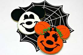 mickey minnie mouse halloween sugar cookies