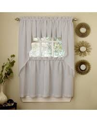 Swag Kitchen Curtains Don U0027t Miss This Bargain Ribcord Kitchen Curtains Solid Opaque 36