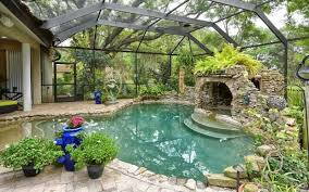 How To Close In A Covered Patio 45 Screened In Covered And Indoor Pool Designs