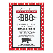 couples shower s shower backyard bbq theme invitation card