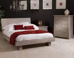 Low Profile Furniture by Zen 4 Piece Low Profile Bedroom Set In Driftwood