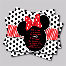 aliexpress com buy 20 pcs minnie mouse birthday invitation for