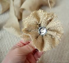 burlap flowers no sew burlap rosette tutorial diy fabric flower tutorial
