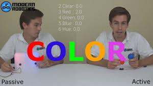 modern robotics color sensor youtube