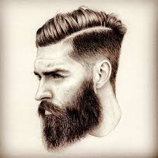 hhort haircut sketches for man bearded man sketch art artwork drawing arts undercut hair hairstyle