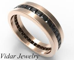 mens black diamond wedding band men s princess cut black diamonds wedding band vidar jewelry