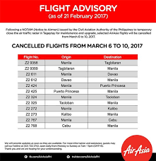 airasia refund policy flight advisory cancellation 6 10 march 2017 airasia