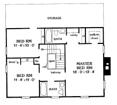 Saltbox Floor Plans Colonial Style House Plan 3 Beds 3 Baths 2036 Sq Ft Plan 456