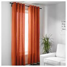Orange And Brown Curtains Mariam Curtains 1 Pair Ikea
