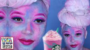 Unicorn Halloween Makeup by Unicorn Frappuccino Inspired Makeup Tutorial Youtube