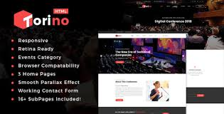 torino html template for conference and event by tonatheme