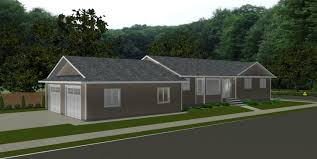 bungalow house plans with attached garage house plans