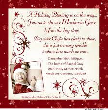 blessing baby winter baby shower invitations frozen personalized event