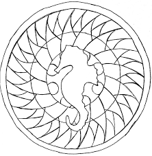 sea horse mandala mandalas coloring pages for adults justcolor