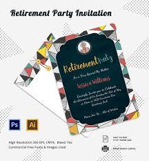 Surprise Invitation Cards 16 Retirement Invitation Templates U2013 Free Sample Example Format
