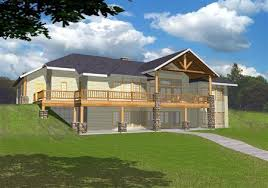 Ranch Style House Plans With Walkout Basement Bay Breeze 3 Craftsman Cottage House Plan Rustic Cathedral