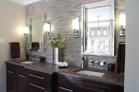 Bahtroom Contemporary Wall Lamps Design Beside Amusing Mirrors - Designer bathroom wallpaper