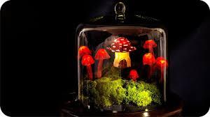 outdoor mushroom lights diy miniature fairy garden terrarium youtube