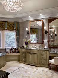 bathroom soffit lighting ideas brown varnished cherry wood vanity