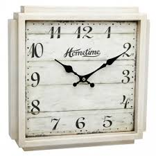 shabby chic clock white square wall clock french style clock