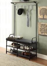 Entryway Coat Rack With Shoe Storage by Entryway Bench Coat Rack Ebay