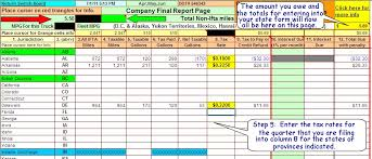 Ifta Spreadsheet Ifta Fuel Tax Software Excel Spreadsheet For Truckers