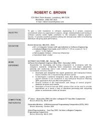 Sample Resume For Computer Science Student by Esthetician Resume Examples