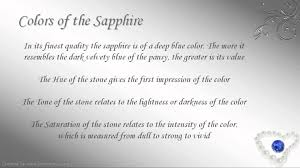 meaning of the color blue september birthstone virgo sapphire youtube