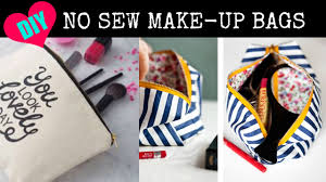 No Sew Project How To - diy no sew make up bags youtube