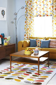 astonishing mid century modern living room ideas orange velvet