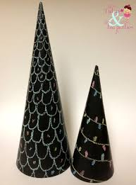 chalkboard christmas trees