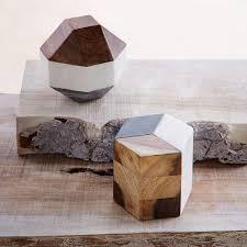 marble wood geometric objects west elm
