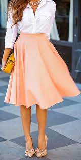high waisted skirt pink plain draped high waisted pleated retro flared a line