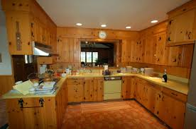 Kitchen Cabinets Pine The Placement Of The Pine Wood Furniture In The Kitchen Will Add