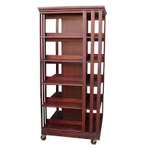 Danner Revolving Bookcase John Danner Antique Mahogany Pivot And Post Rotating Bookcase