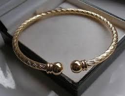 silver gold bracelet bangle images 9ct gold torque bangle ebay JPG