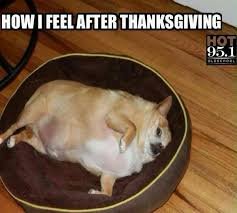 how i feel after thanksgiving holidays events