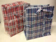 set of 2 large plastic checkered storage laundry shopping