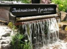 floral backyard garden idea and unique piano with sweet