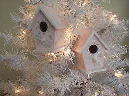 pink birdhouse ornaments flickr
