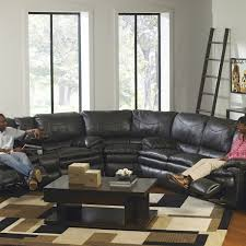 Fabric Recliner Sofas Living Room Leather Sectional Sleeper Sofa With Recliners