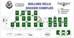 Tcc Map Texas Soccer Fields Rolling Hills Socccer Complex Fort